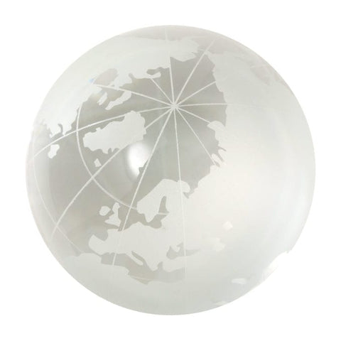 Crystal World Map Marble 30mm, no stand