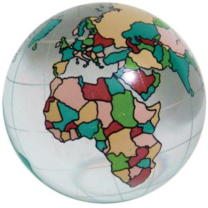 Colour world map marble 60mm