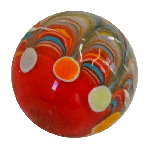 Handmade Big Top Marble (small) in red