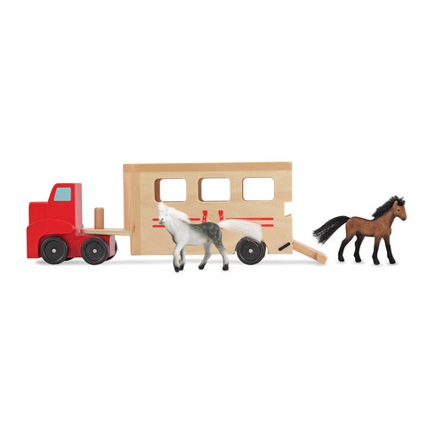 Horse Box Play Set horses outside