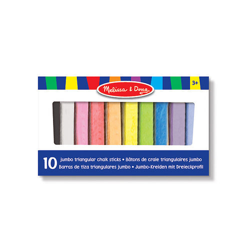 10 Jumbo Triangular Chalk Sticks, boxed