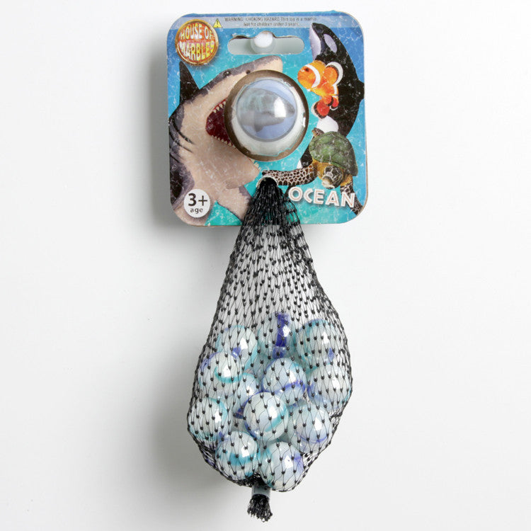 Net Bag Marbles - Printed Shark