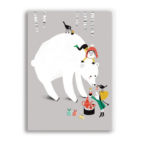 Bears Tea Party Greetings Card