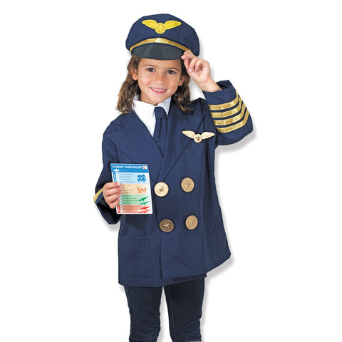 Pilot costume on little girl