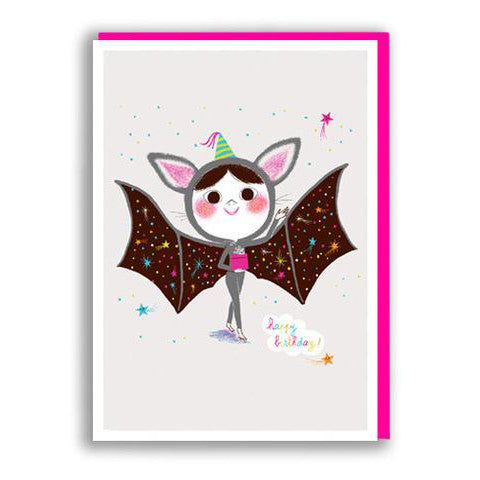 Bat Girl Birthday Card