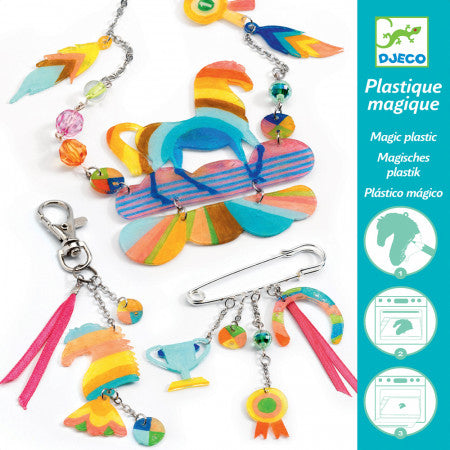 Rainbow Horse - Shrinkable Jewellery Set, packaging front view