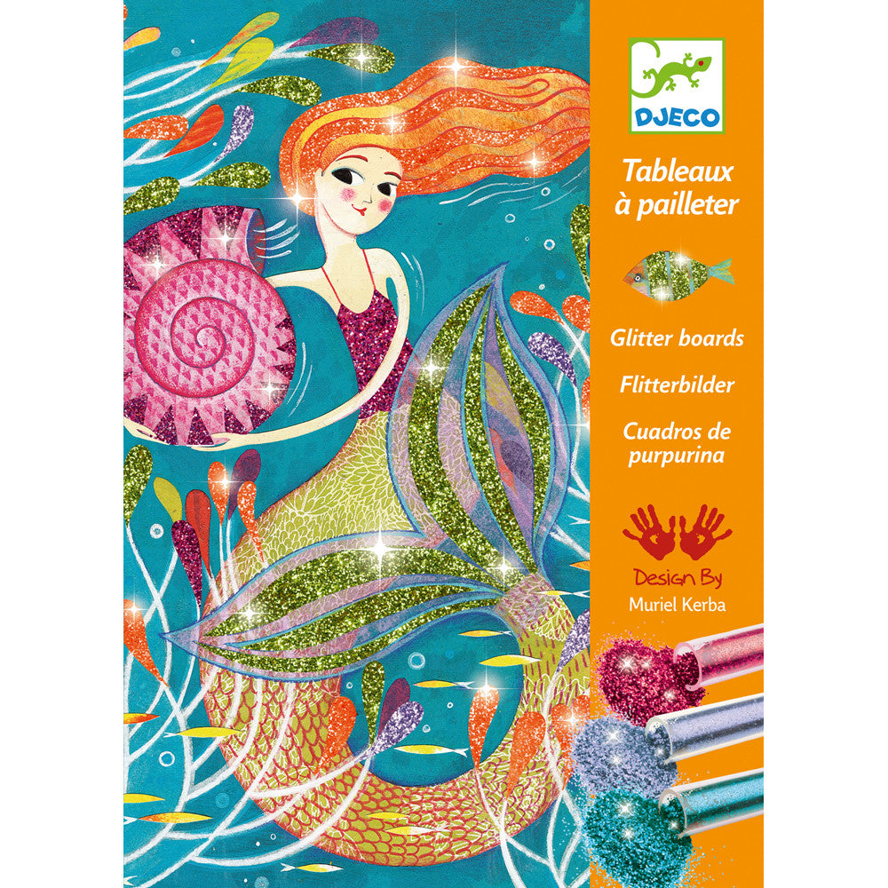 Mermaid Lights - Glitter Boards by Djeco, front of box