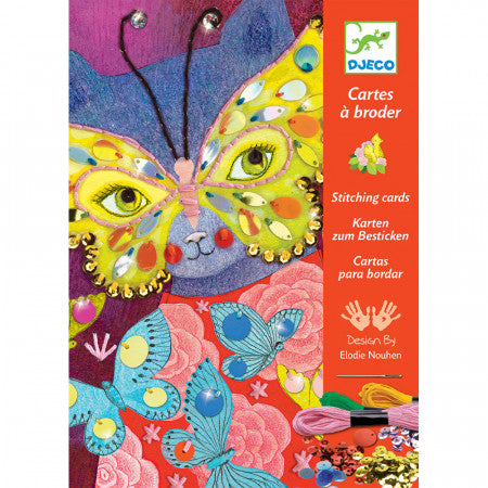 elegant carnival stitching cards, front of box