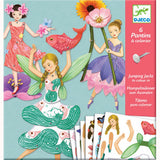 Fairy Jumping Jacks to colour - by Djeco, front cover