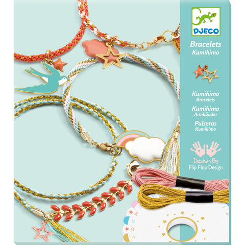 'Celeste' Kumihimo Bracelets Kit by Djeco, boxed