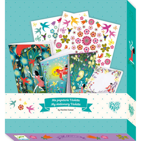 Stationery Set  - Violette, boxed