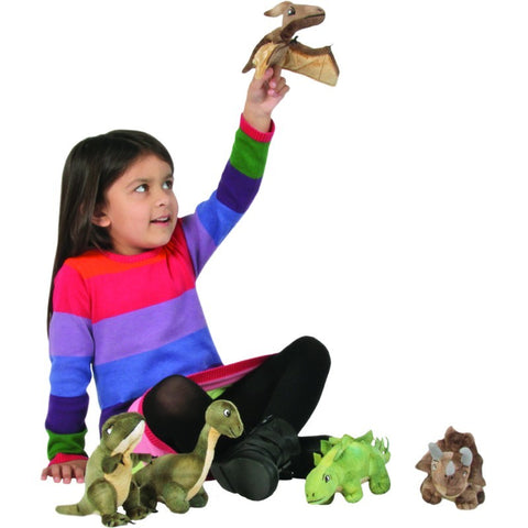 Dinosaur Finger Puppet Collection played with by girl