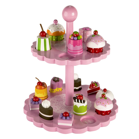 High Tea Shape Matching - Cakes and Stand