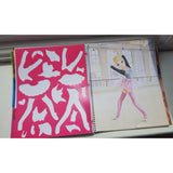 Top Model Dance Colouring Book, ballet dancer page with stencils