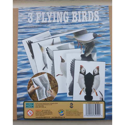 3 Flying Birds - Make A Mobile, close up of back of box
