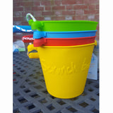 4 colourways of scrunch bucket standing upright