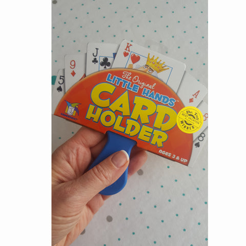 Little Hands Card Holder, being held by adult hand