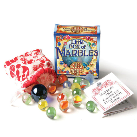 Little Box of Marbles contents displayed
