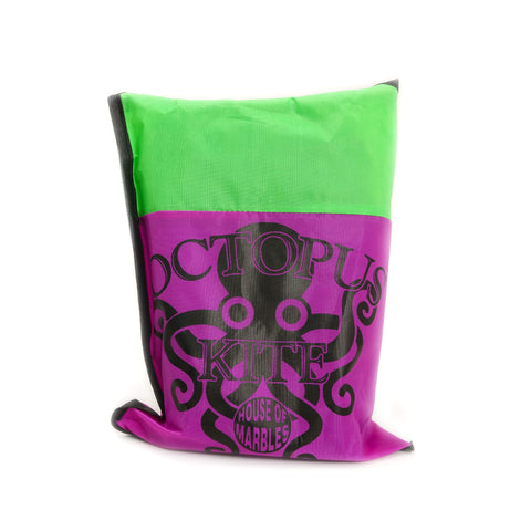 Octopus Kite, purple/green in bag
