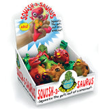 Squish-a-saurus - Squeezy Stress Dinosaur (3 varieties) in counter box