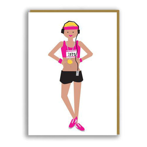 Runner - Greeting Card