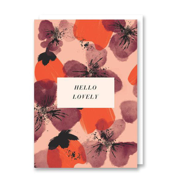 Hello Lovely - Greeting Card