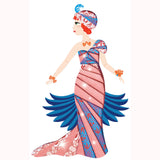 Art Deco Dresses - Iris Paper Folding by Djeco, detail of dress
