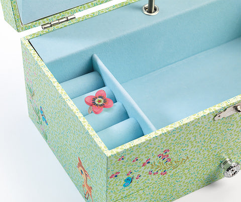 The Fawn's Song - Musical Box, close up of inside ring holder