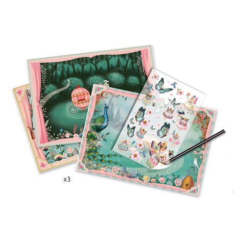 In Fairyland -  Decal Transfers by Djeco, scenes and transfers
