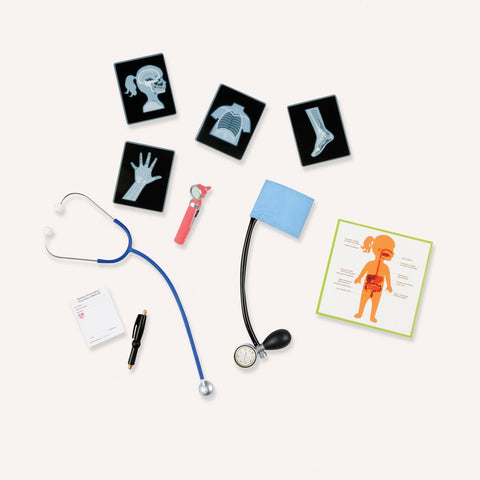 Accessories including stethoscope and x rays out of the box