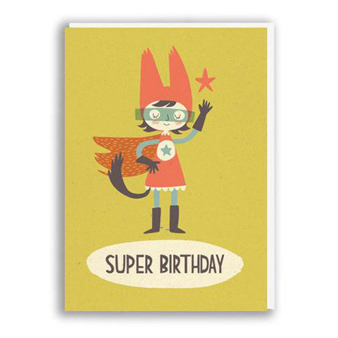Super Girl Birthday Card