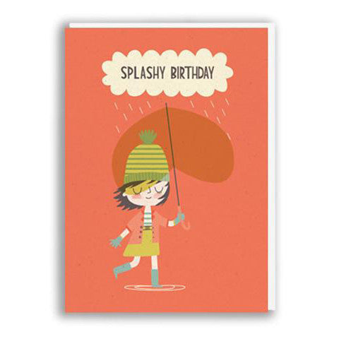 Splashy Birthday Card