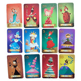 Sleeping Queens - Card Game, selection of queen cards laid out