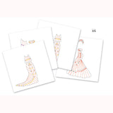 Art Deco Dresses - Iris Paper Folding by Djeco, plain dress instructions