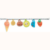 Sweet Treats - Shrinkable Jewellery Set, detail of charms on chain