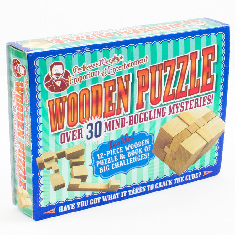 Wood Puzzle Assortment box at spiffy angle