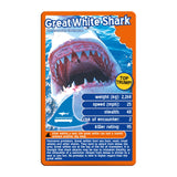 Deadliest Predators -Top Trumps Game, great white shark card