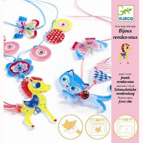 Kitten and Pony - Shrinkable Jewellery Set, front of pack