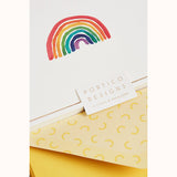 Rainbow Boxed Notecards (Set of 10), detail of rainbow and envelope inside