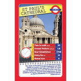 London 30 Things To See - Top Trumps, sample card St Paul's Cathedral