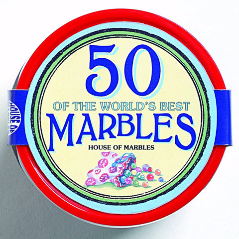 Tub of 50 Marbles top