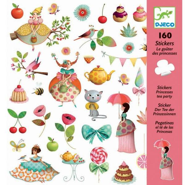 Princess Tea Party Stickers by Djeco, front of pack