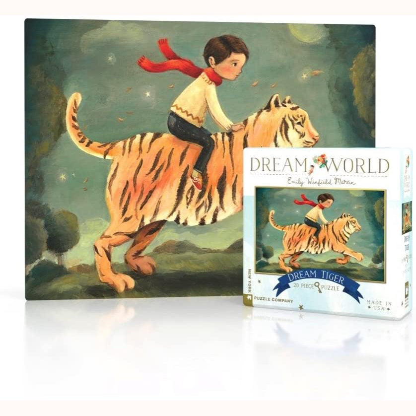 Dream Tiger - Mini Jigsaw Puzzle, completed image and box