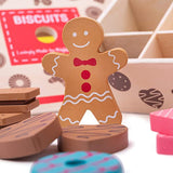 Box of Biscuits, gingerbread man detail