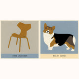 Dogs and Chairs - Designer Pairs, corgi page