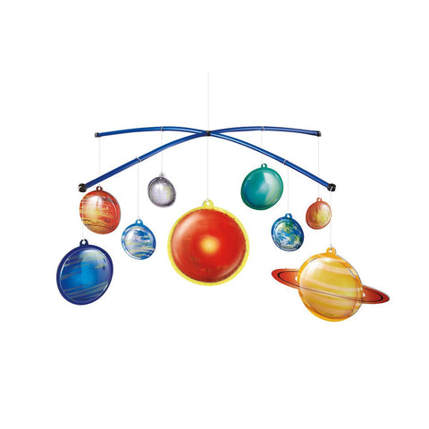 Solar System Mobile Making Kit, assembled and hanging