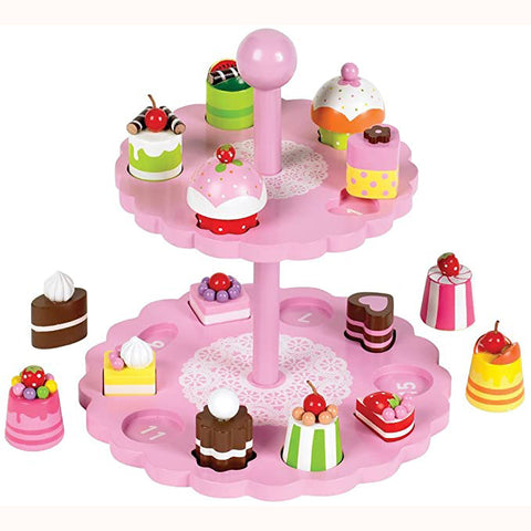 afternoon high tea matching set unboxed with cakes free