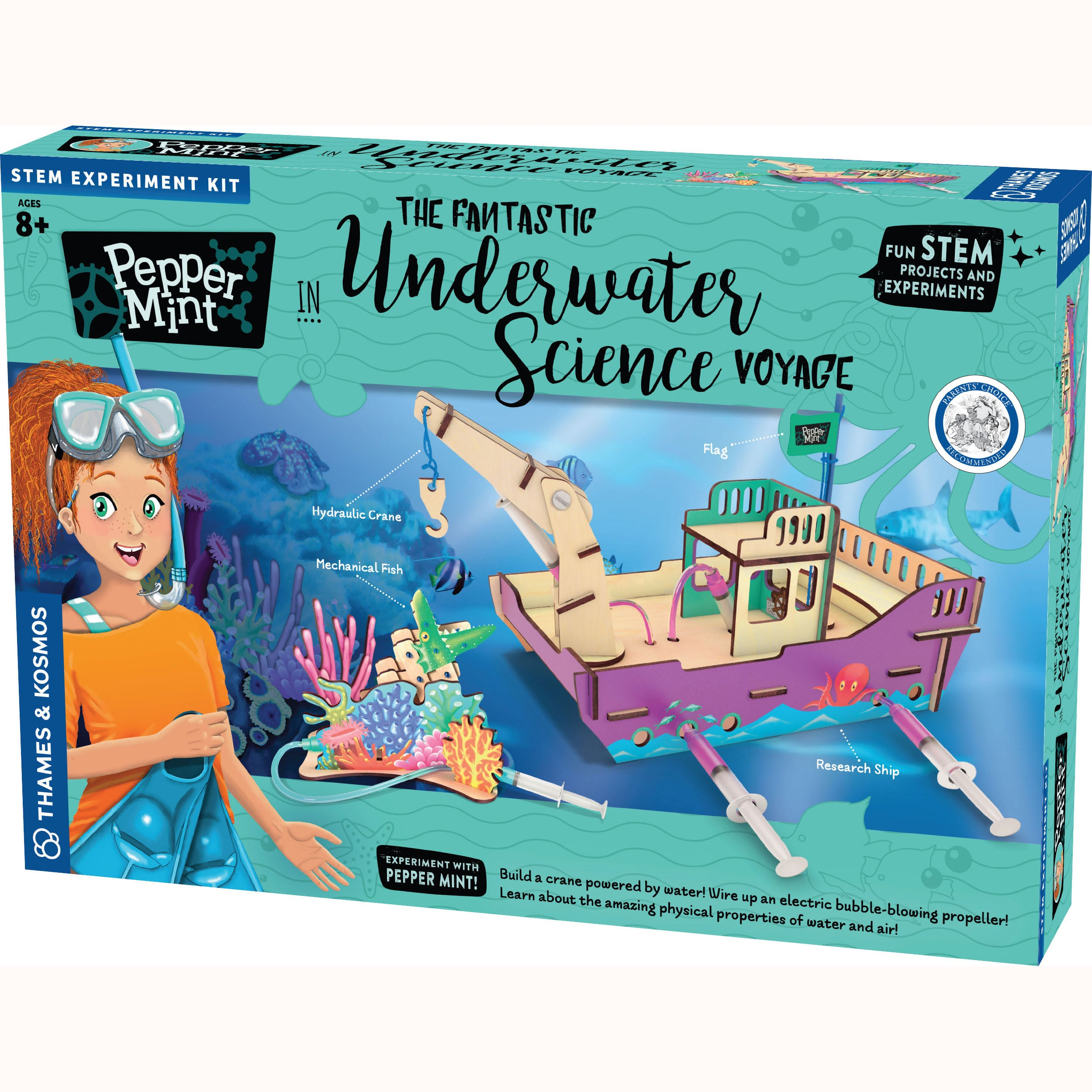 Pepper Mint Underwater science voyage, front of box