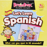 Brainbox let's learn spanish, front on box