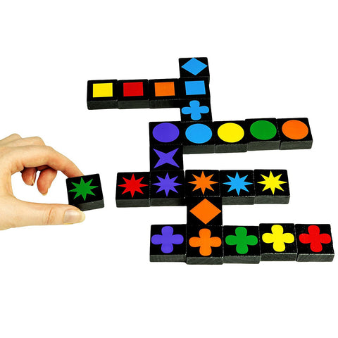 Qwirkle tiles mid game